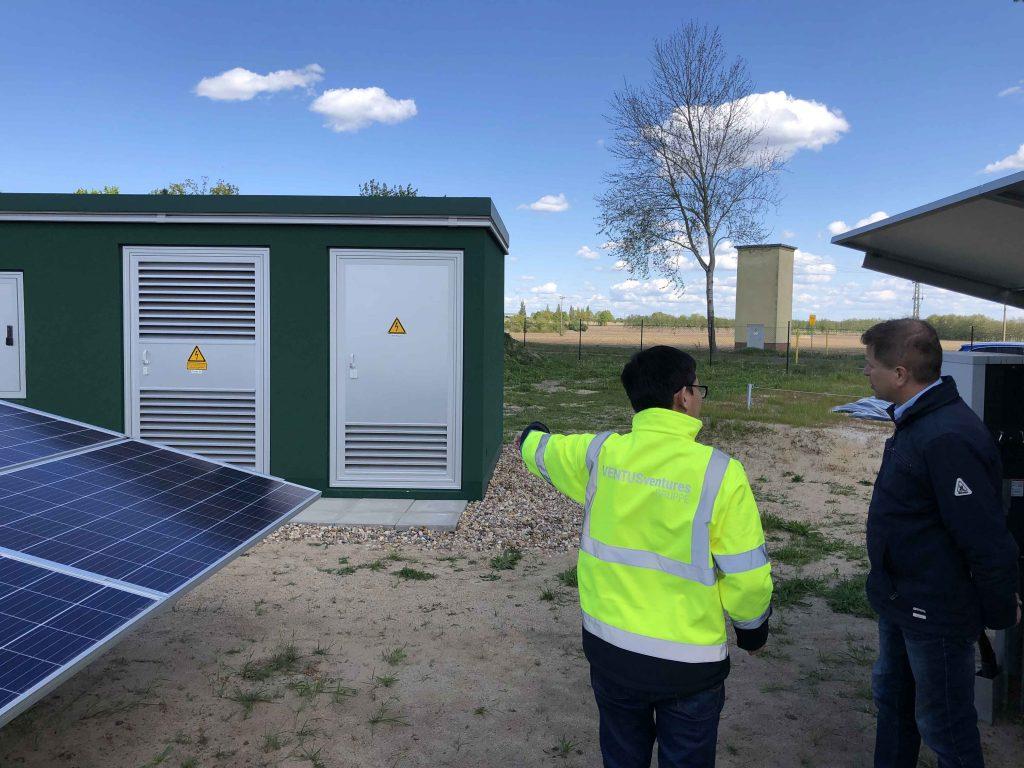 Inauguration solar park Warlow